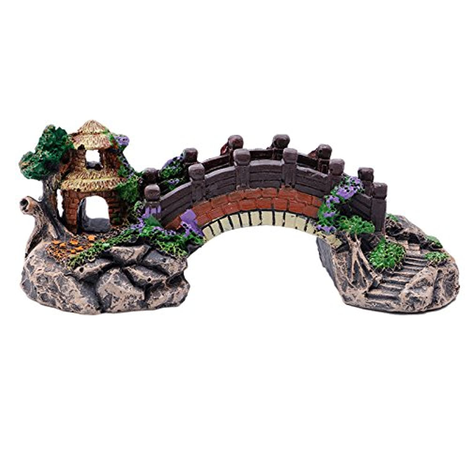Zadaro aquarium resin bridge landscape tank ornaments fish for Aquarium bridge decoration