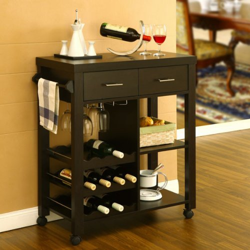 Anton Contemporary Mobile Kitchen Bar Cart front-193027