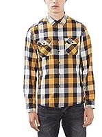 edc by ESPRIT Camisa Hombre (Amarillo)