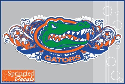 "Florida Gators Tribal Gator Head 8"" Vinyl Decal Car Truck Window Uf Baseball Sticker"