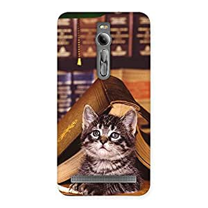 Cute Cat Book Back Case Cover for Asus Zenfone 2