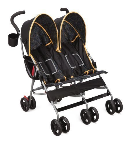Delta Children Products City Street LX Side by Side Stroller Orange by Delta Children\'s Products [並行輸入品]