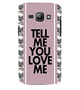 ColourCraft Love Quote Back Case Cover for SAMSUNG GALAXY J1