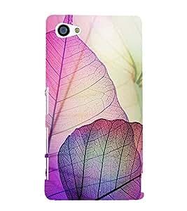 Beautiful Leaf Design Cute Fashion 3D Hard Polycarbonate Designer Back Case Cover for Sony Xperia Z5 Compact :: Sony Xperia Z5 Mini