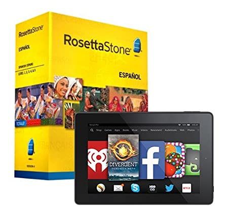 Rosetta Stone Spanish (Spain) Level 1-5 Set and Fire HD 7 Bundle