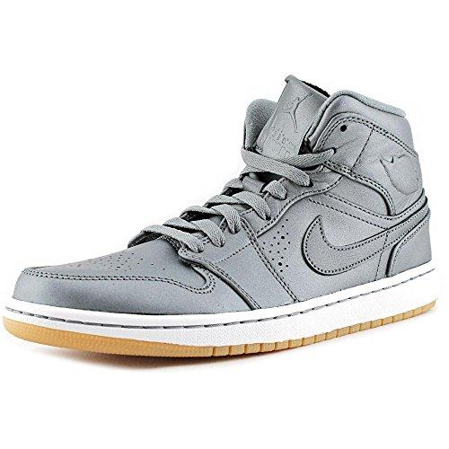 Jordan Mens Retro 1 Nouveau Cool Grey/White/Gum Light Brown/Cool 629151-007 10 (Air Jordan 10 Retro Cool Grey compare prices)