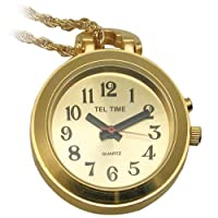 Talking Watch-Tel-Time-Ladies-Pendant-Gold w-Chain