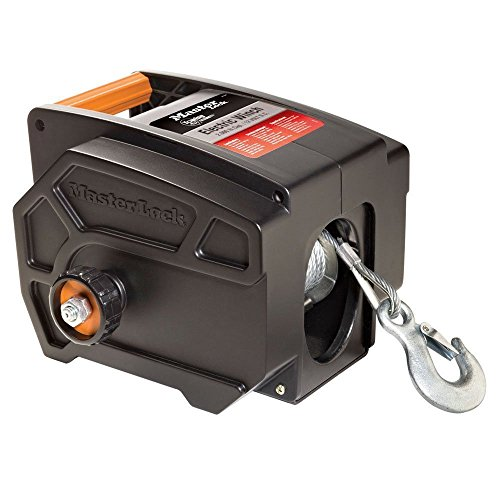 Master Lock 2953At 12-V 2000-Lbs Pull Portable Ball-Mount Flat Surface Winch