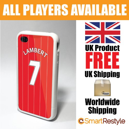 Southampton Personalised Shirt Style Football Phone Cover / Case for iPhone 4/4s, Lambert - Premium Case with Bumper Surround (Black or White Bumper Available)