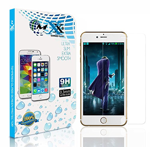 iPhone 6, screen Protector, MXx iPhone 6 Glass Screen Protector (4.7″) Glass, 99.99% Touch-screen Accurate [2.5D] Round Edge [0.3mm] Ultra-clear Glass Screen Protector Perfect Fit for iPhone 6 (4.7 Inch ONLY) [Temepered Glasss] Maximum Screen Protection from Bump, Drops, Scrape and Marks (Lifetime Warranty no-Hassle) 1 Pack. Retail Packaging