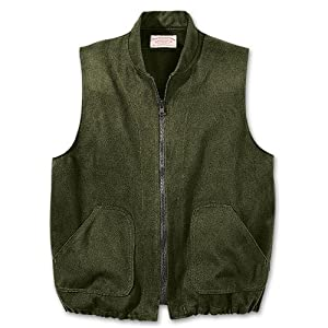 Filson 10035 Moleskin Vest Liner (Large, Dark Green)