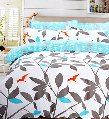 Hashcart Leaves Cotton Double Bedsheet With 2 Pillow Covers (Bombay Dyeing Bed Sheets compare prices)