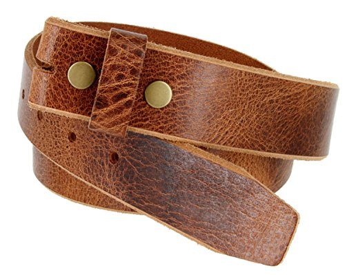 "BS304 100% Genuine Leather Vintage Belt Strap 1-1/2"" Wide Black Brown Tan (38, Tan)"