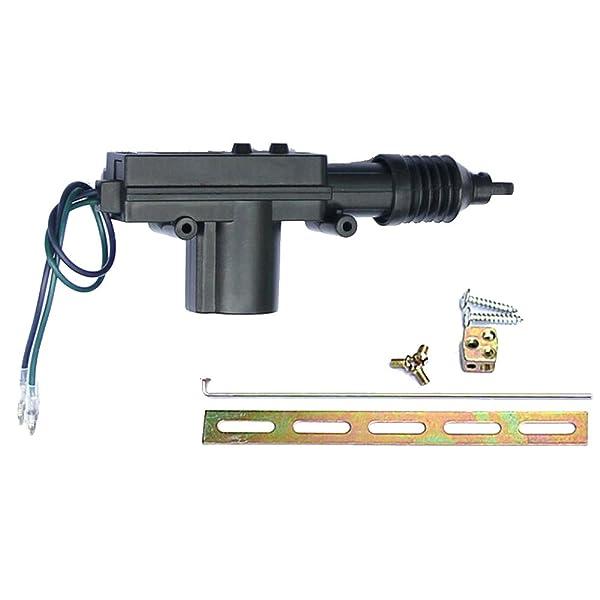Etopars Black Car Plastic Universal Heavy Duty Power Door Lock Actuator 2 Wire 12V (Color: 1Pcs)