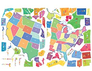 Wallies peel and stick wall play mural us for Amazon world map mural