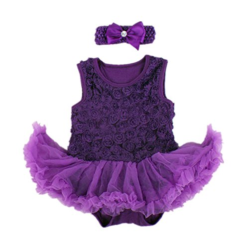 Starkma 2Pc/lot Newborn Infant Baby Girl Set Christmas Clothes B16 Purple S