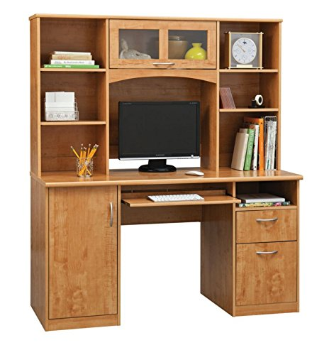 Landon Desk With Hutch Oak My Home