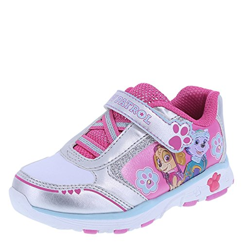 Paw Patrol Girls' Pink Girls' Paw Patrol Lighted Runner 7 Regular