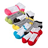 Pink Cookie 7-pk. Colorblock No-Show Socks - Girls