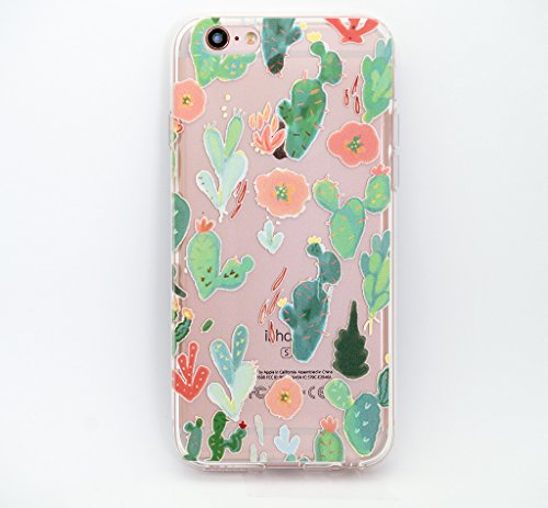 clear-plastic-case-cover-for-apple-iphone-6-47-watercolor-cactus