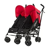 Obaby Apollo Twin Black Stroller (Red Hood)