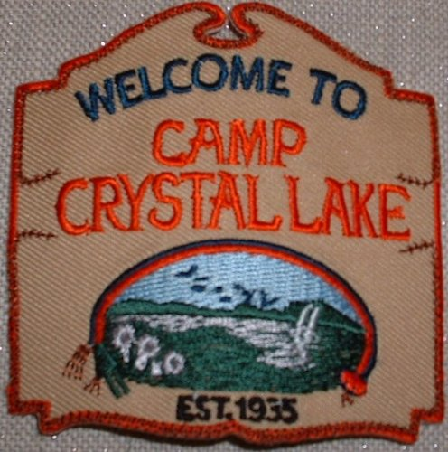 Friday the 13th Movie Camp Crystal Lake Logo PATCH