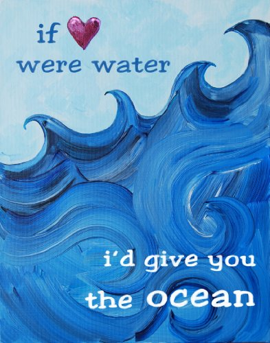 Cici Art Factory Paper Print Wall Hanging, I'd Give You The Ocean