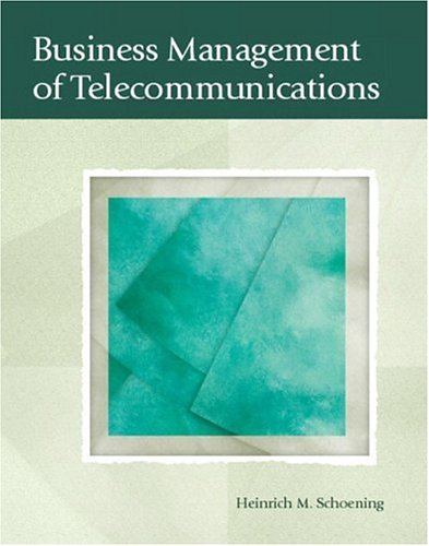 Business Management of Telecommunications (Alternative Etext Formats)