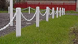 Plastic Garden Chain Link Fence (post and chain) 1m pack