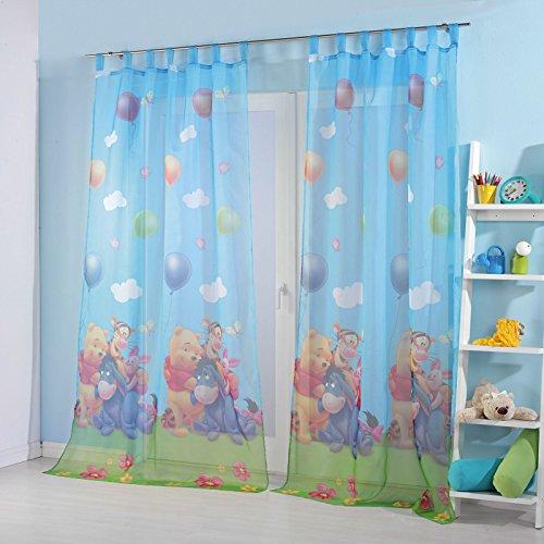 kinderzimmer gardinen vorhang set motiv winnie the pooh. Black Bedroom Furniture Sets. Home Design Ideas