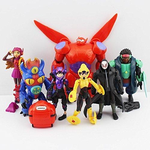 Big Hero 6 PVC (8pcs/set) Figures Fred Tomago Honey Lemon Wasabi Friends Action Figure Doll Toys by mode toy