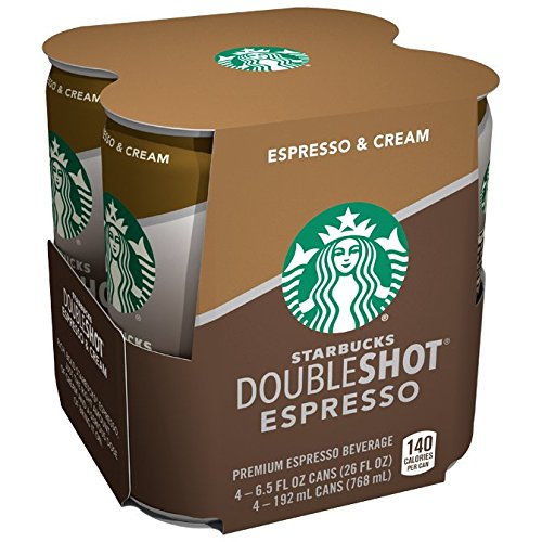 Starbucks Doubleshot, 4-Pack, 6.5 oz Cans (Starbucks Coffee Can compare prices)
