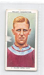 Jimmy Allen - Aston Villa FC 1939 Wills Cigarettes Association Footballers #2 (FAIR)