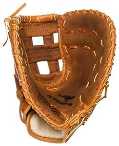 Nokona AMGFB-K Open Web Base Mitt Buckaroo Hide Baseball Glove (12.5-Inch) by Nokona