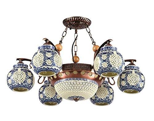 lampe-lustre-eclairage-plafond-lampe-pendentif-fer-rouge-souffle-de-decor-sous-glacure-bleu-et-blanc