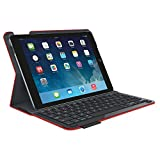Logitech Type Plus Protective Case With Integrated Keyboard For Apple IPad Air 2 (Bright Red)