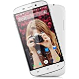 Nouveau 5.0'' DOOGEE NOVA Y100x IPS OGS 3G Smartphone Débloqué Android 5.0 Lollipop MT6582 Quad Core 1.3GHz Double SIM 8GB ROM GPS WIFI (avec Étui de protection)- pour Orange, SFR, Bouygues, Virgin, Free ISYS, Lebara, Numericable etc (Blanc)