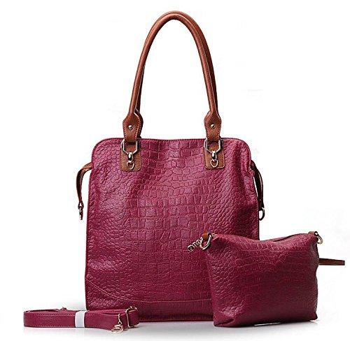 TESSLA 2 In 1 Bucket Shopping Handbag Style Shoulder Bag
