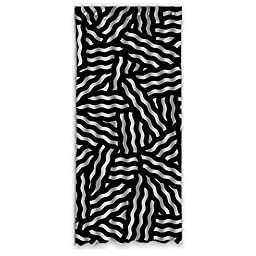 50x108 Home Fashion Window Panel (One Piece) with Wave Stripes Pattern