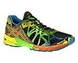 Asics Men's Gel Noosa Tri 9 Running Shoes - Black/Blue/Green/Yellow, Size 7