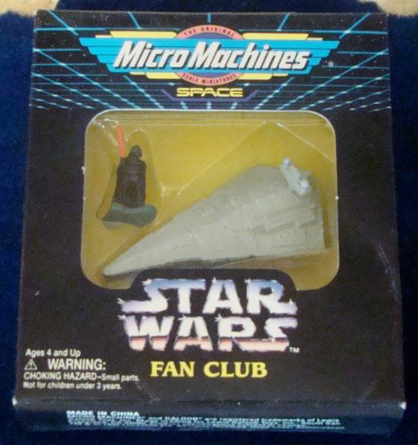 Star Wars Micro Machines Fan Club Exclusive Star Destroyer with Darth Vader Figure