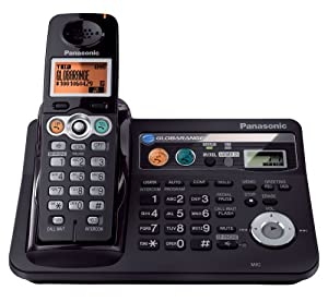 Panasonic BB-GT1540B Globarange Expandable Cordless Telephone w/Digital Answering System with Point-to-Point Internet Calling (US)
