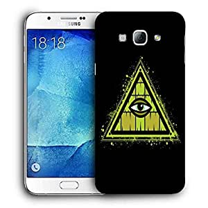 Snoogg Triangle Eye Designer Protective Back Case Cover For SAMSUNG GALAXY A8