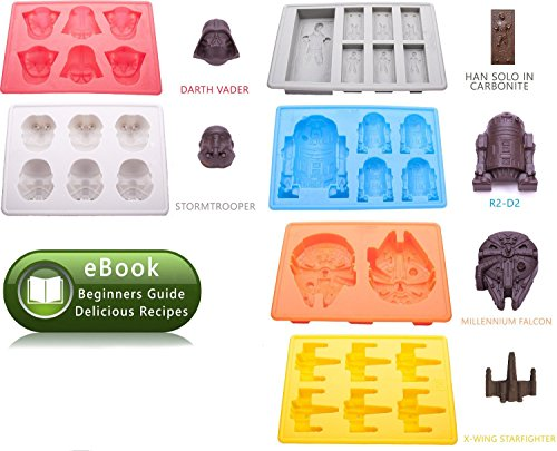 Silicone Molds Ice Cube For Star Wars Lover Candy Baking Chocolate Dishwasher Safe With 1 Ebook Intructions