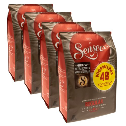Purchase Senseo Regular / Classic Roast, New Design, Pack of 4, 4 x 48 Coffee Pods from Douwe Egberts