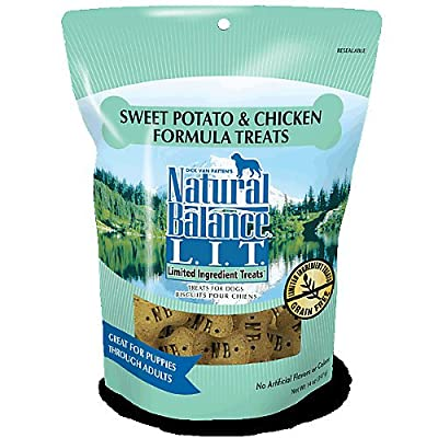 Natural Balance L.I.T. Limited Ingredient Treats Potato & Duck Formula Small Breed Dry Dog Treats, 8-Ounce