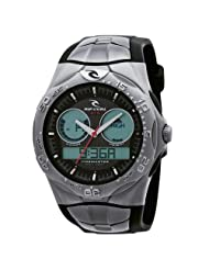 Rip Curl Men's Tidemaster 2 Series Black Dial with Silver Band