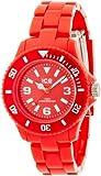 ICE-Watch - Montre Mixte - Quartz Analogique - Ice-Solid - Red - Small - Cadran Rouge - Bracelet Plastique Rouge - SD.RD.S.P.12