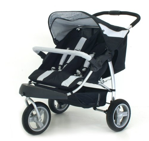 Petite Star Extreme Charisma twin pushchair (with independant recline) including 2x fleece lined footmuffs  &  Raincover