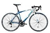TRINX(トリンクス) 【ロードバイク】 入門用 補助ブレーキ付き Shimano21速 エントリーモデル 軽量 アルミフレーム TEMPO TEMPO ブルー/ホワイト 430mm